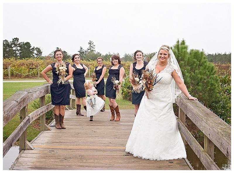bridge wedding photos