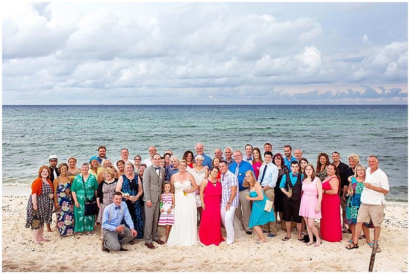 group guest wedding photos