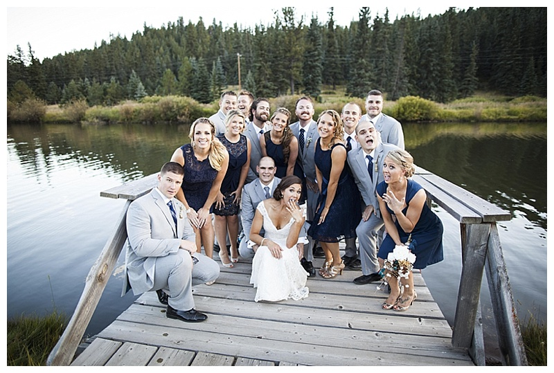 gray and navy wedding attire