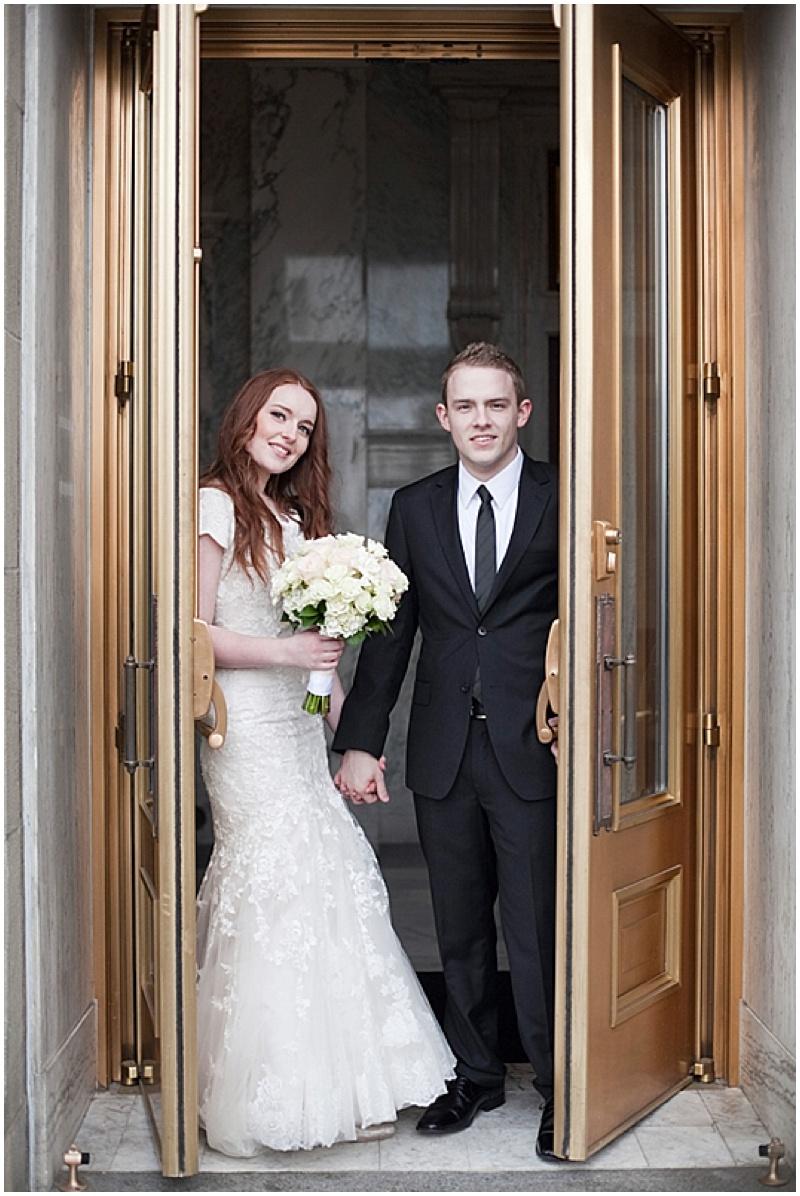 doorway wedding photos