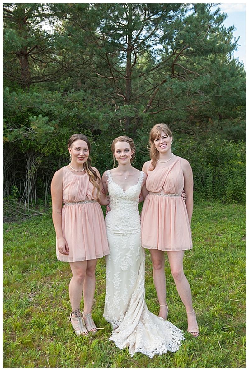 pink bridesmaid attire