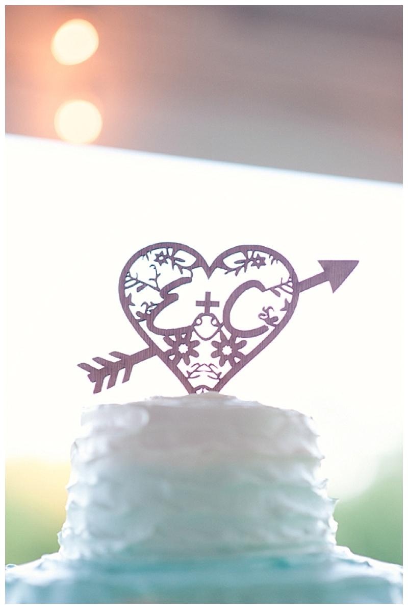 homemade wedding cake topper