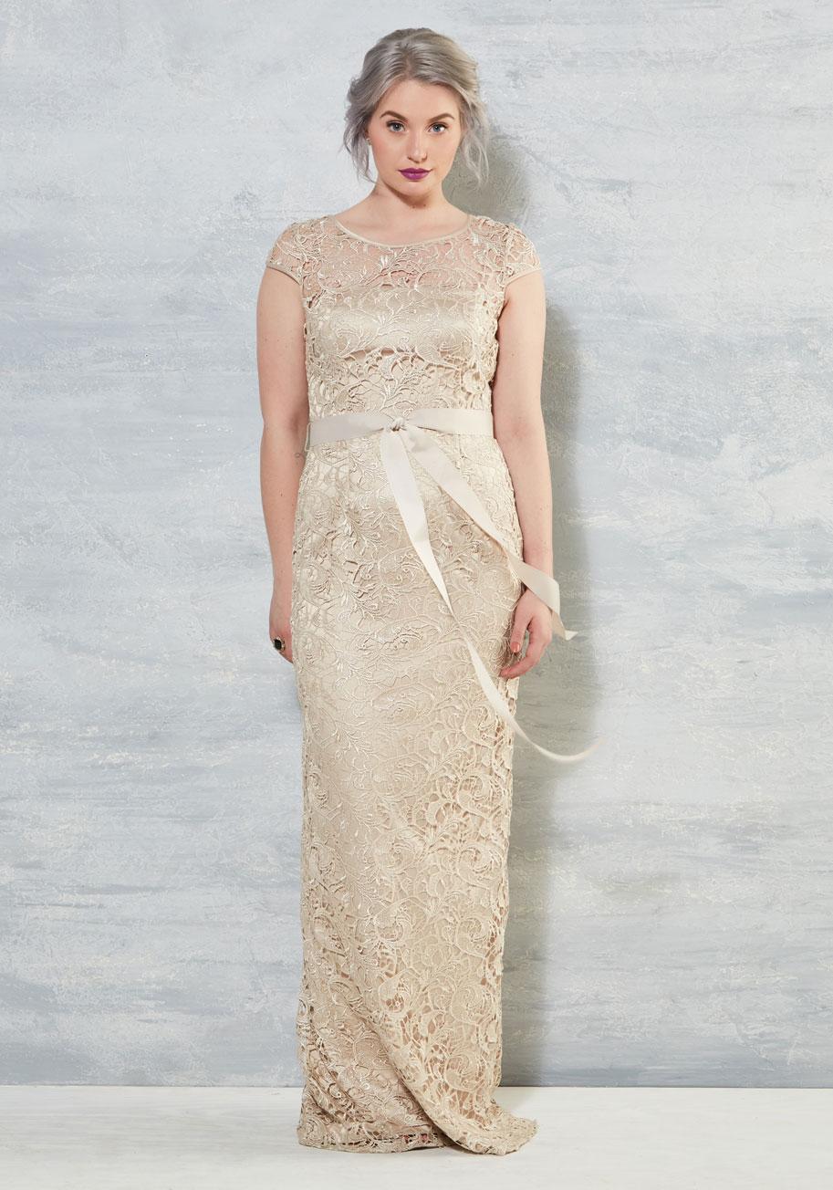 Upscale Inspiration Dress - ModCloth Wedding Dress