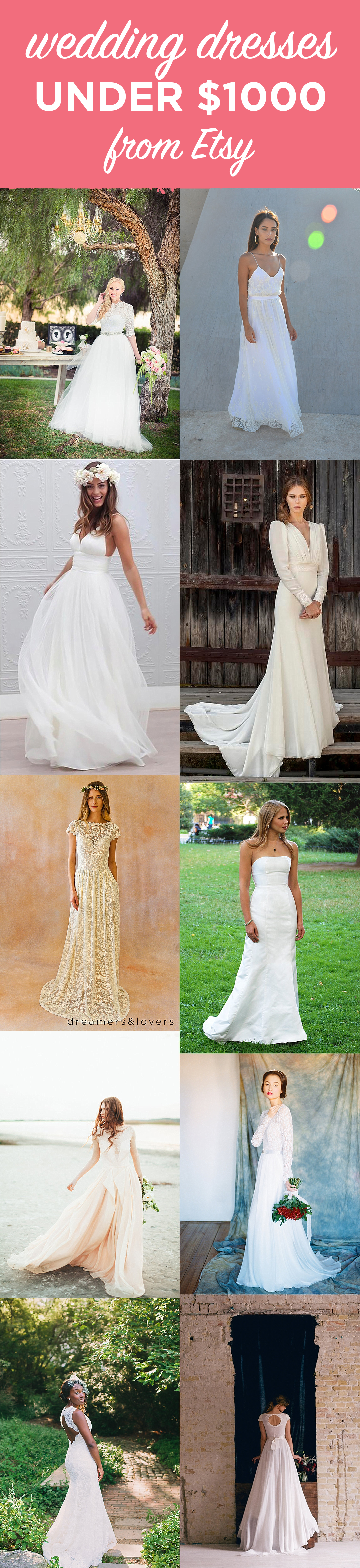 Etsy Wedding Dress Options under $1000