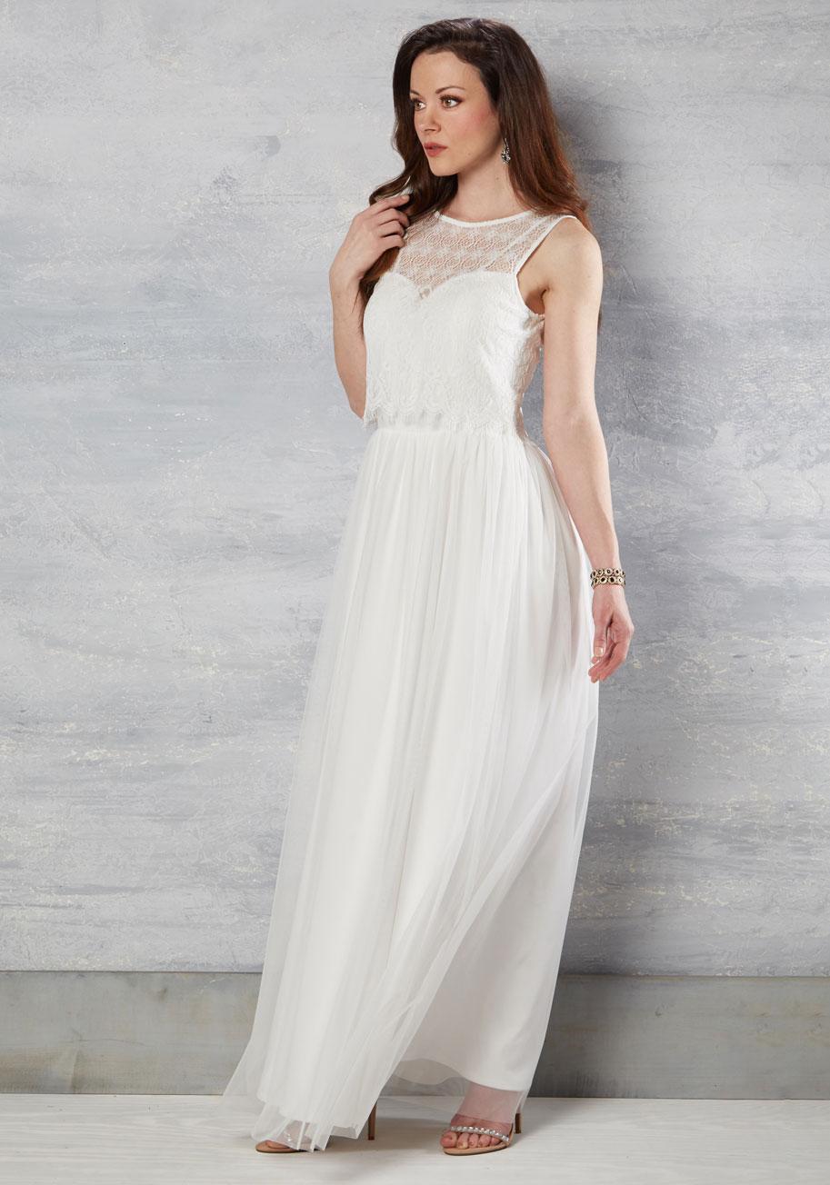 make some poise - modcloth wedding dress