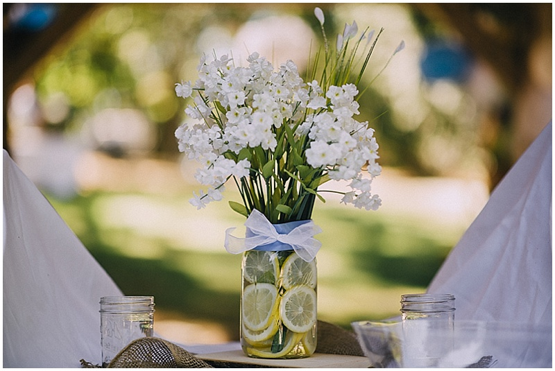 mason jar lemon centerpieces