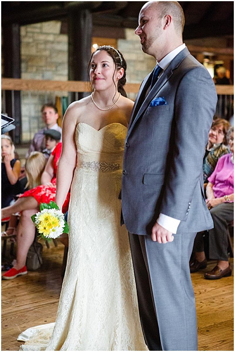 lodge wedding ceremony