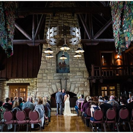 lodge wedding ceremony