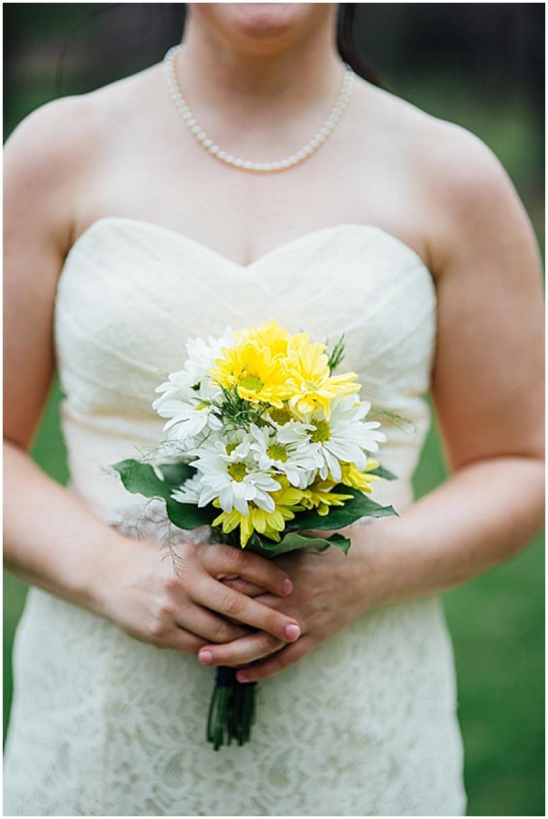 white and yellow wedding photos
