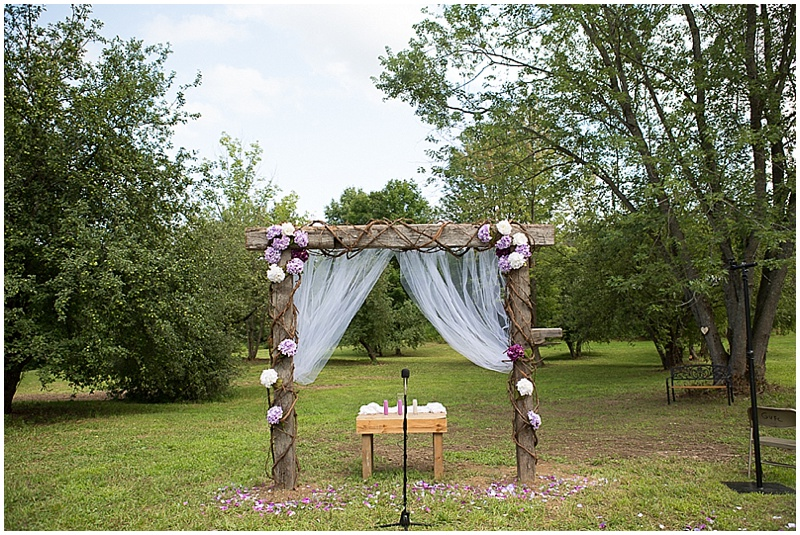 outdoor wedding stage