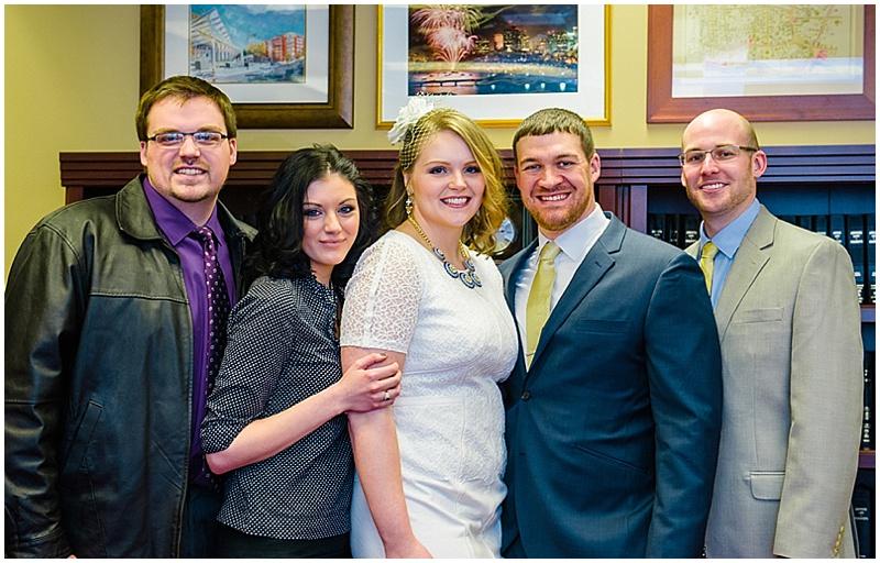 city hall wedding guests