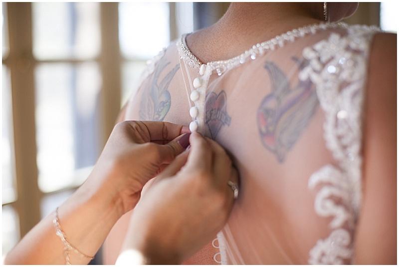 button up wedding dress