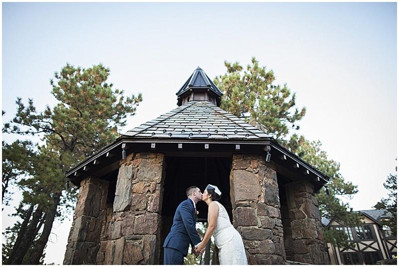 outdoor wedding photos in woods