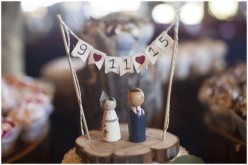 rustic wedding topper