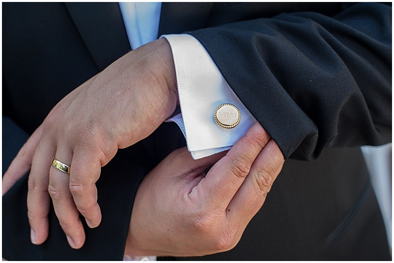 monogrammed cufflinks
