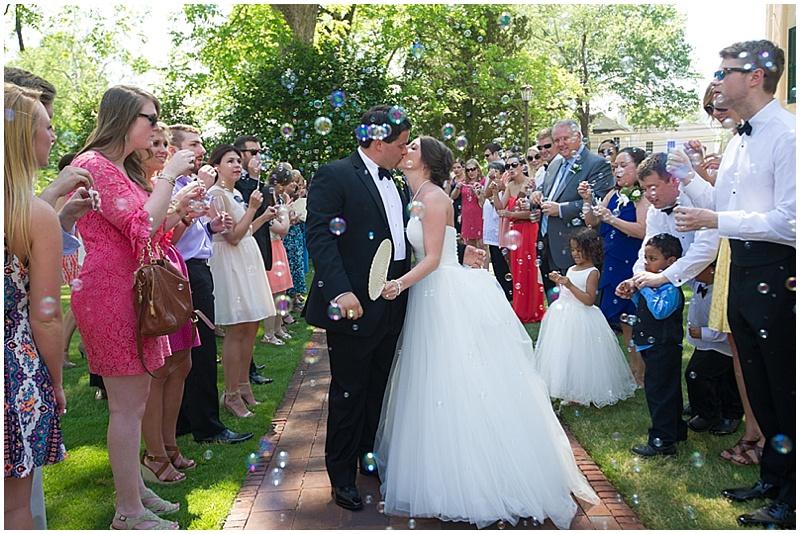 wedding leaving
