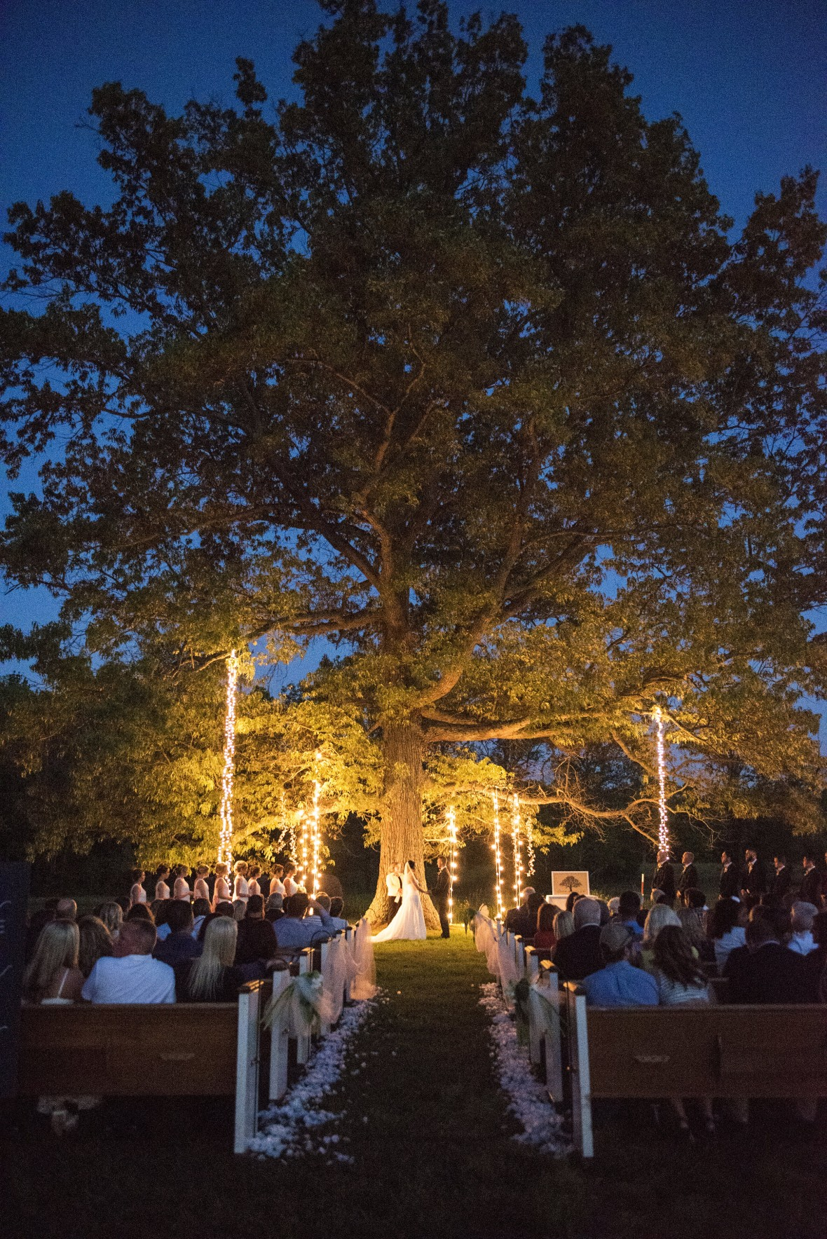 IvoryDoorStudio - Outdoor night-time ceremony in Nashville