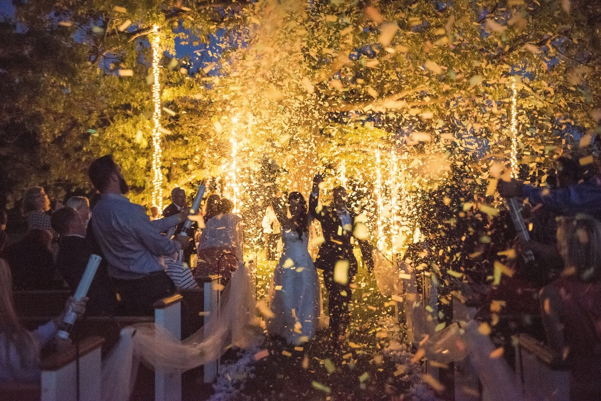 IvoryDoorStudio Outdoor night-time ceremony in Nashville
