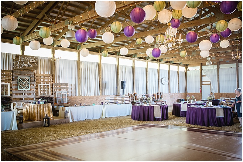 lantern decor barn reception