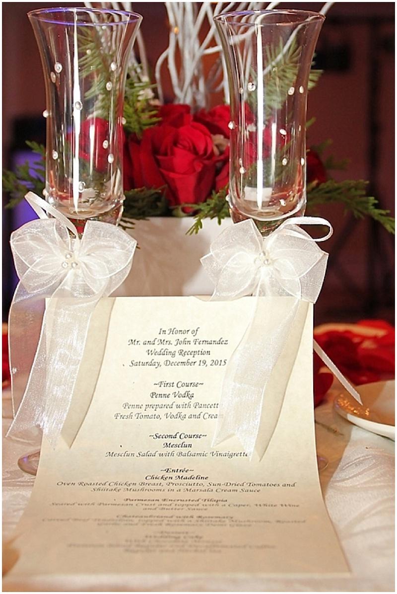reception menu