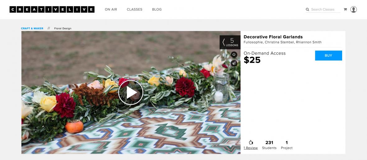 creative live flower arranging class