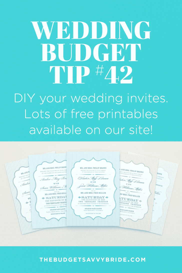 Wedding Budget Tip 42: DIY Your Wedding Invites!