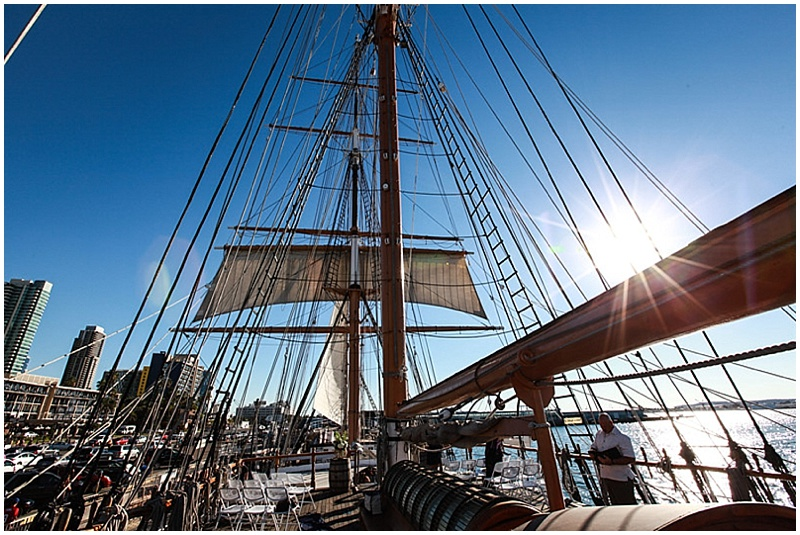 sail boat wedding