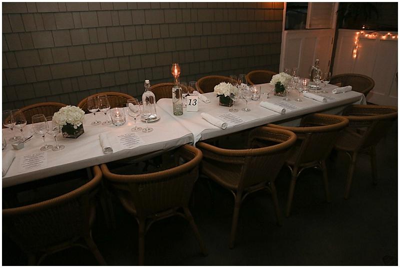 restaurant wedding decor