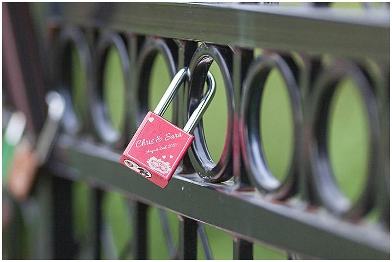 lock wedding photos