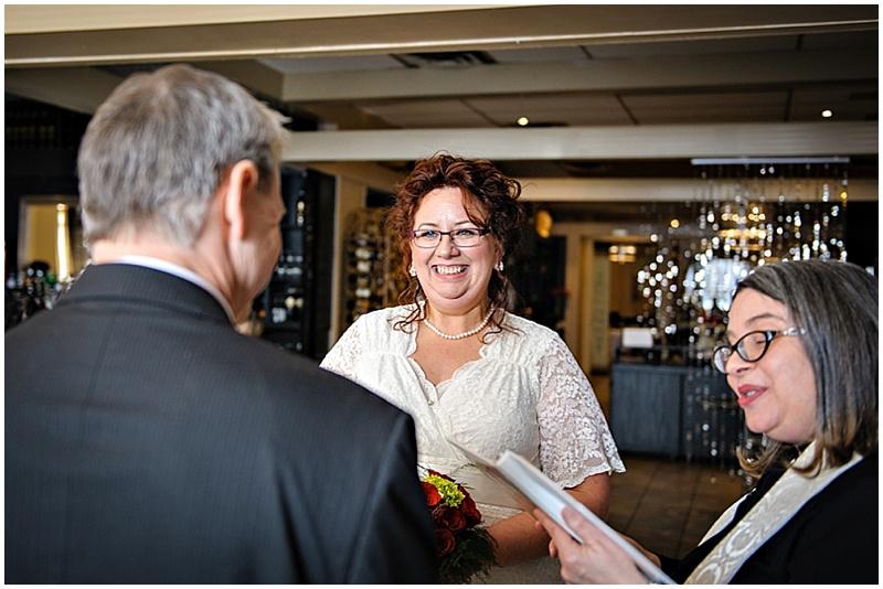 restaurant wedding ceremony