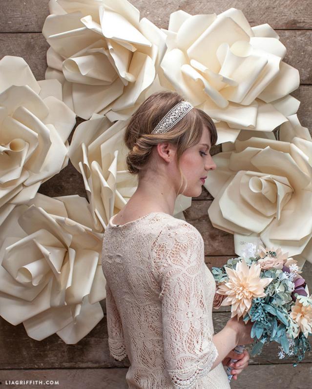 Jumbo Flower Wedding Backdrop