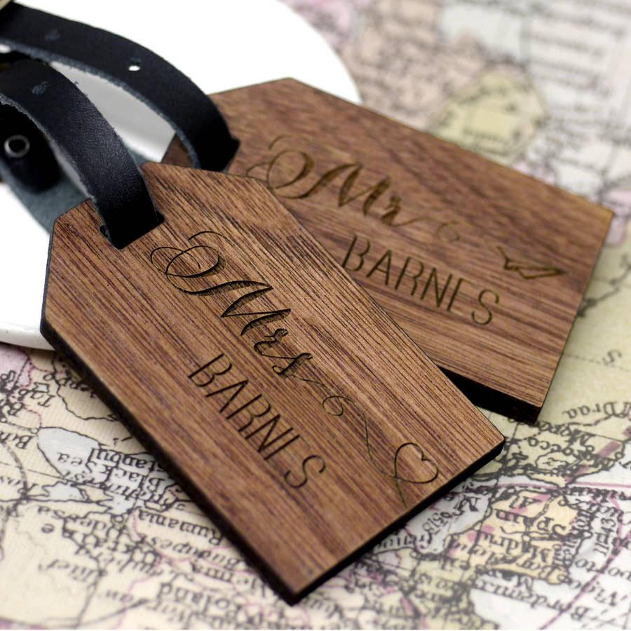 honeymoon luggage tags
