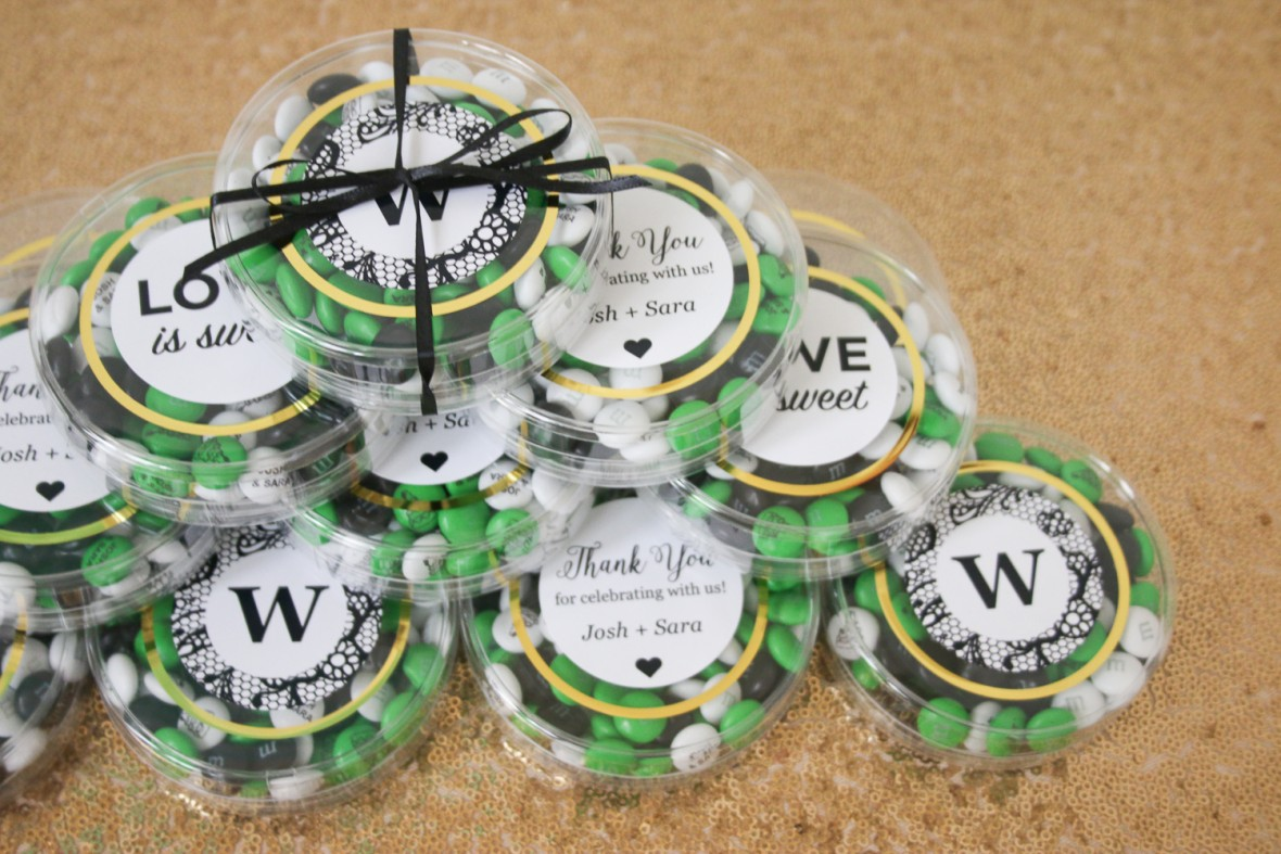 My M&M's Simple Wedding Favors