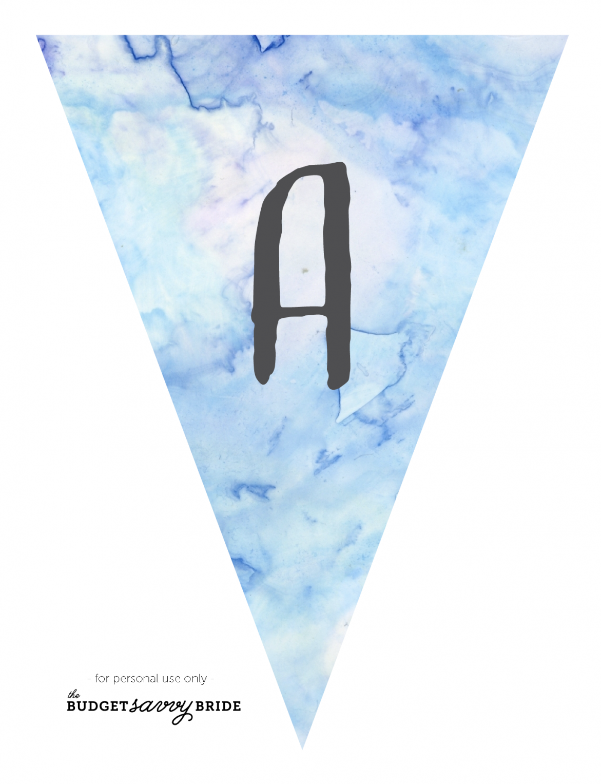 printable watercolor banner - blue