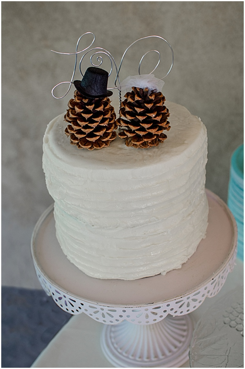 pinecone wedding toppers