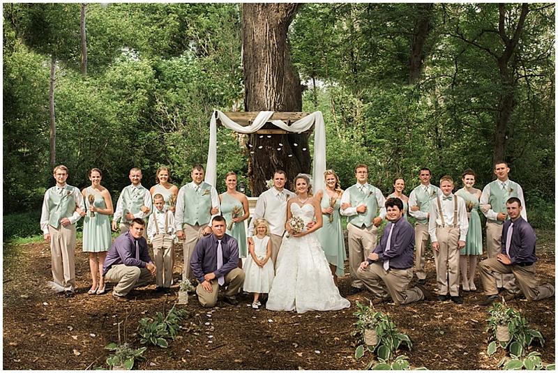sage wedding attire