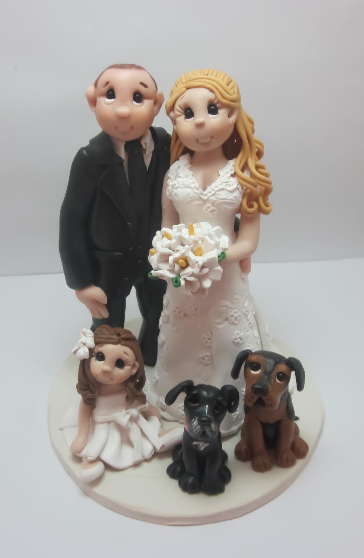 Lynnslittlecreations wedding cake topper