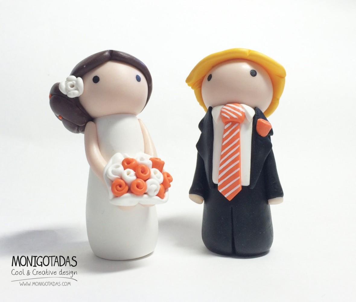 Monigotadas wedding cake topper