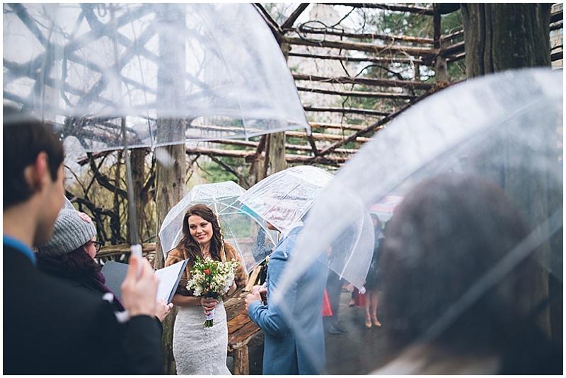 rainy outdoor wedding