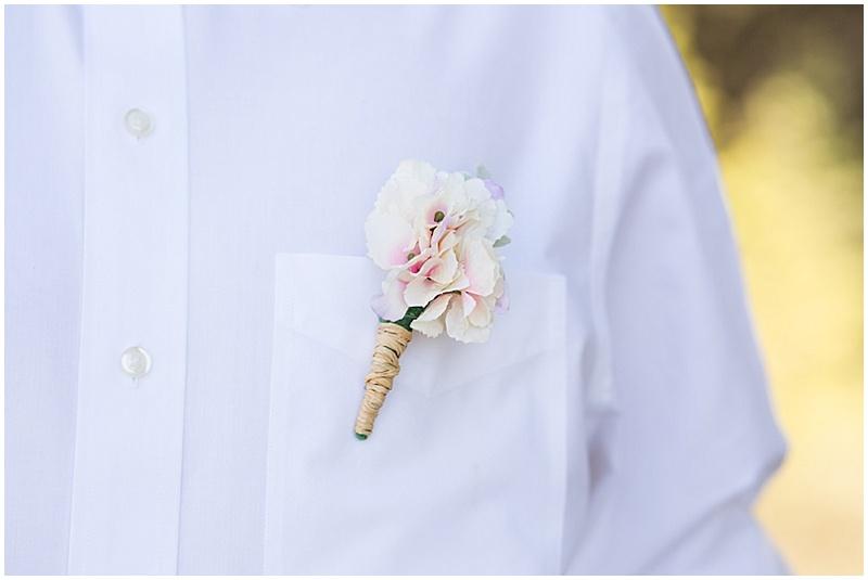 casual khaki and white groom attire