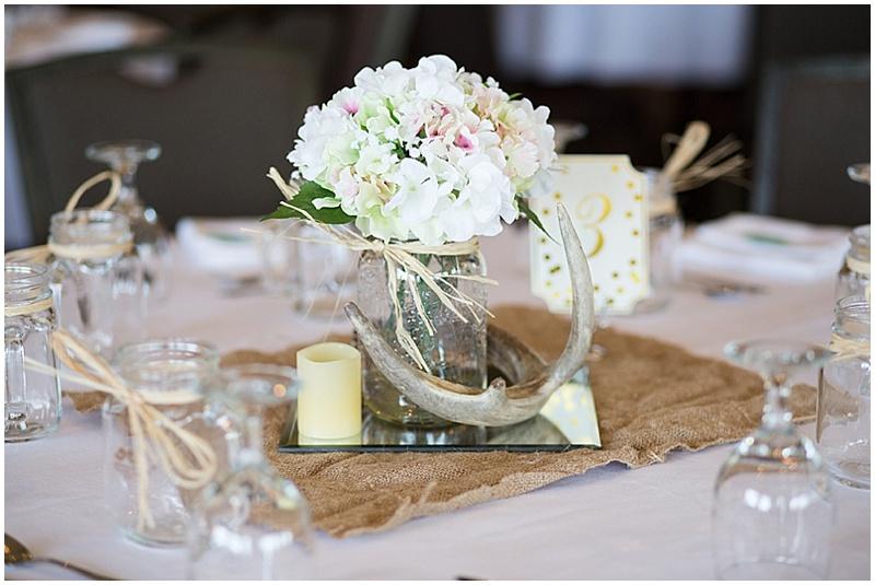 antler wedding reception decor