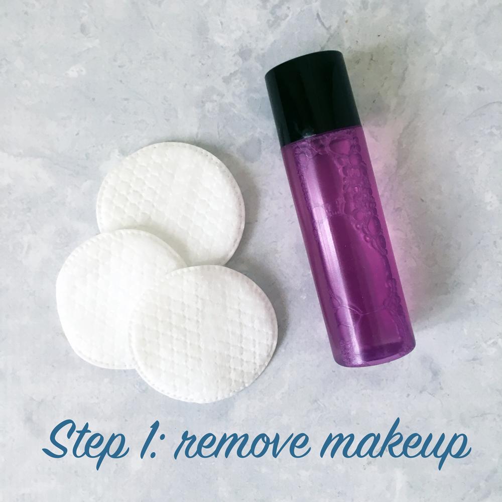 Bridal skincare routine - Step 1