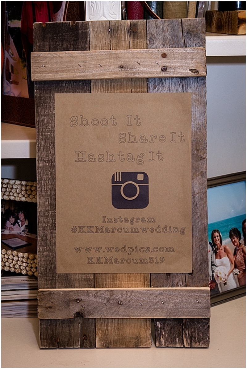 wedding hashtag signage