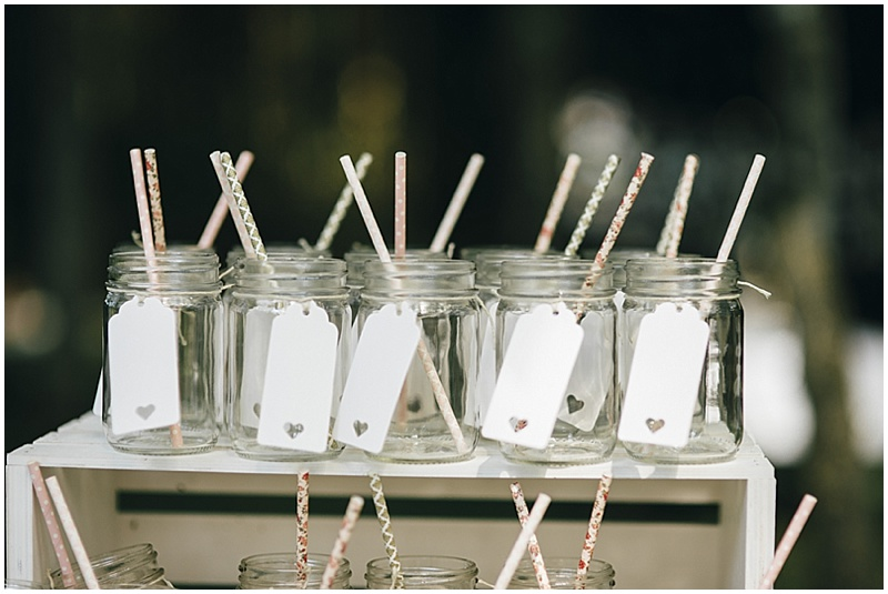 ball jars and straws