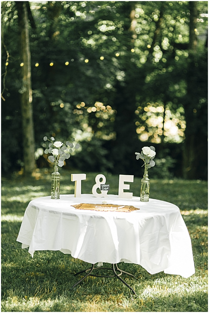 monogram wedding decor