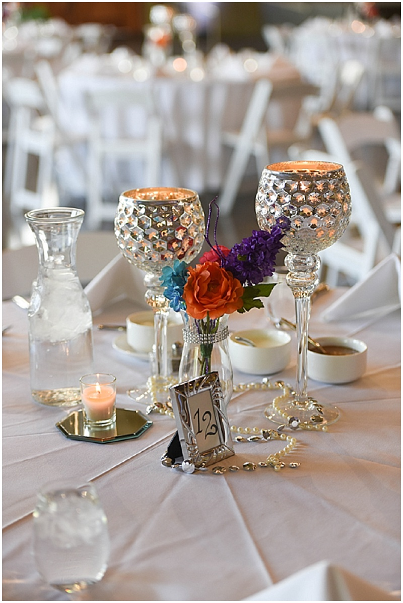 colorful wedding centerpieces