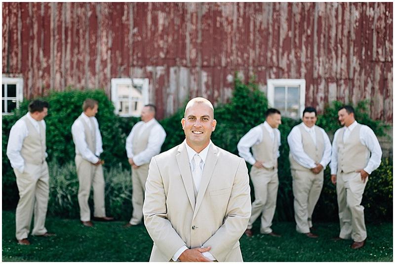 khaki groomsmen attire