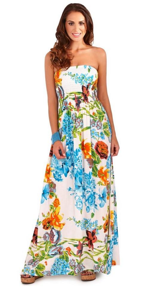 pistachio-womens-bandeau-tropical-floral-maxi-dress