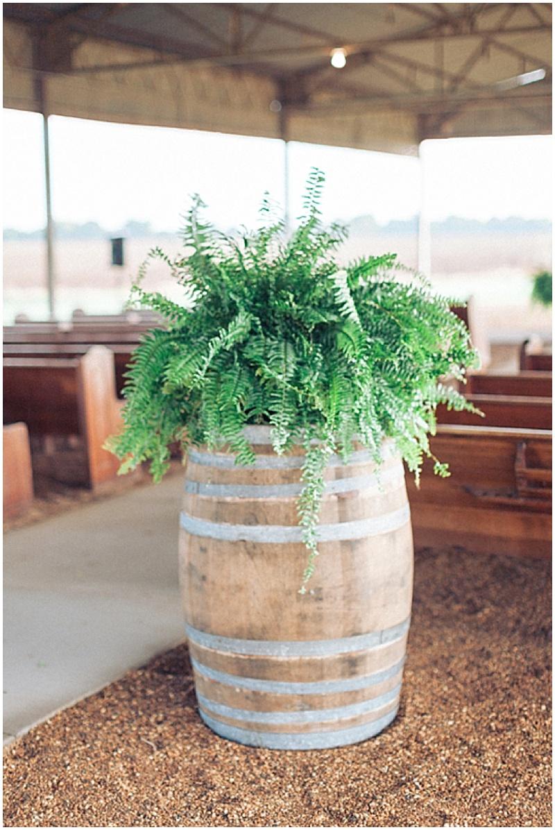 wedding fern decor