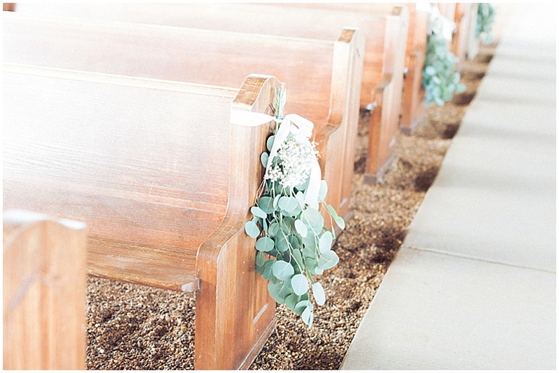 wedding pews